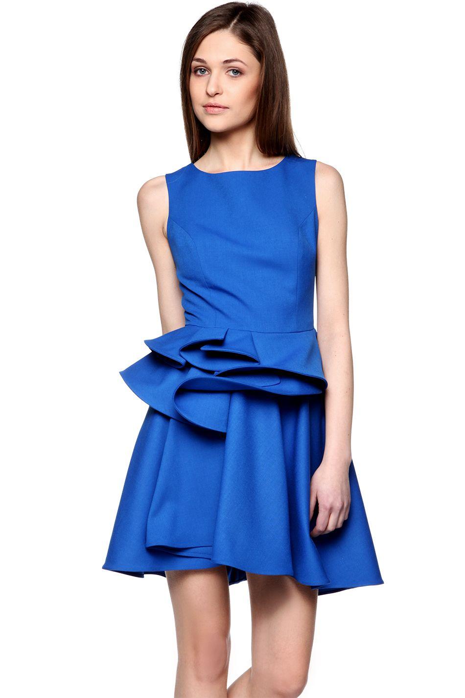 9f57b073c5 Sukienka z falbanami w talii