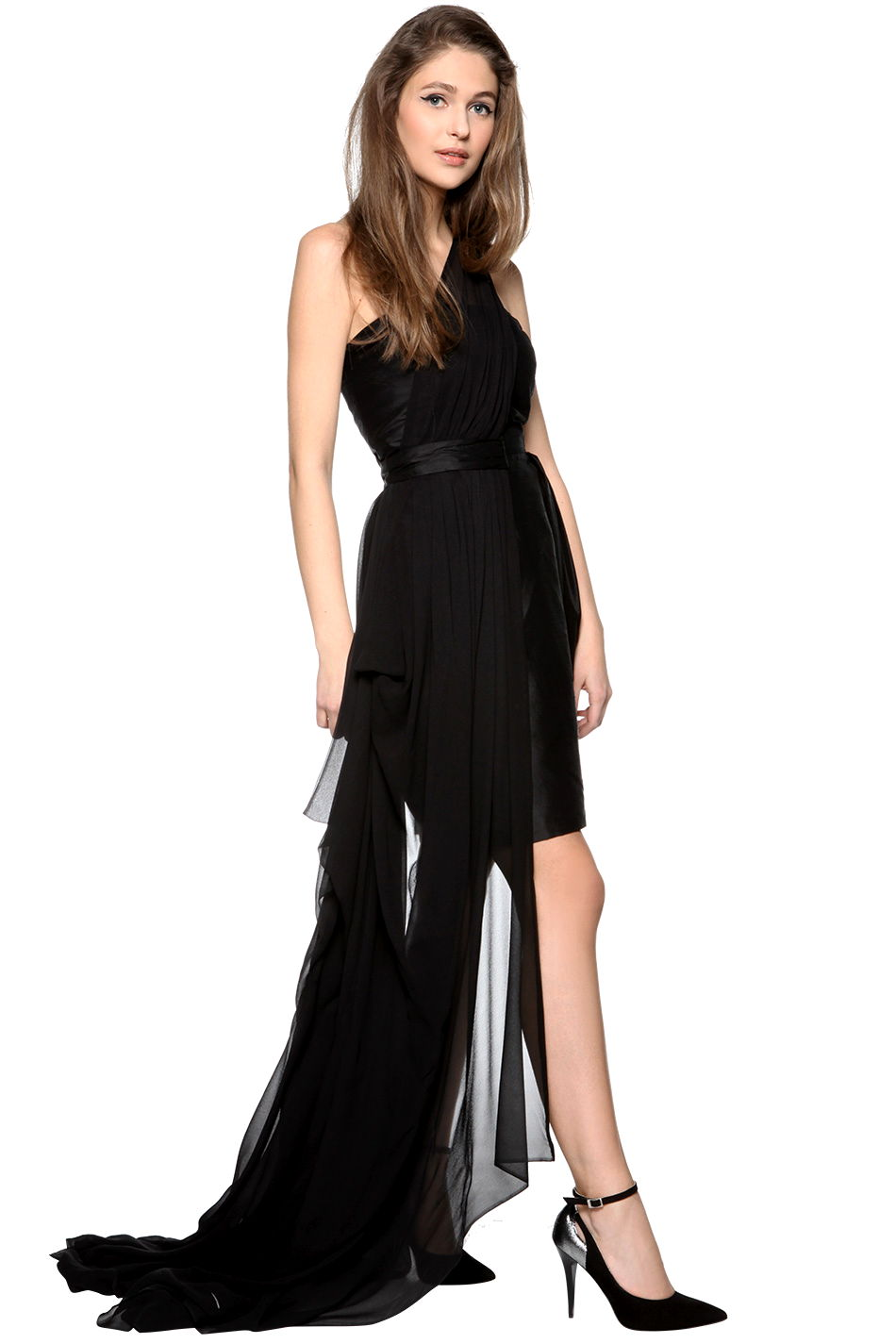 09d6c9e4fe Sukienka asymetryczna z trenem