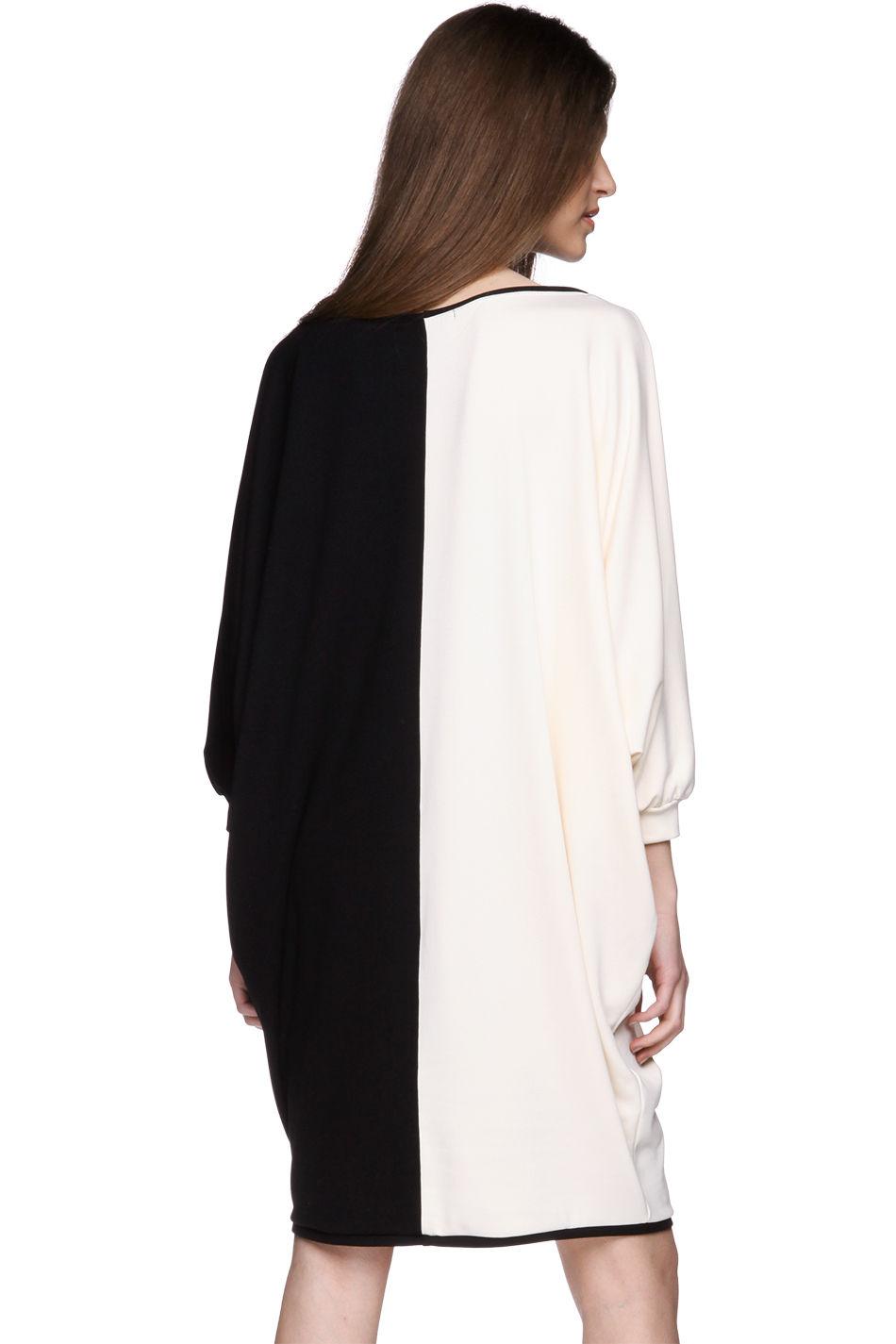 e4ecd4a7b8 Sukienka geometryczna biało-czarna