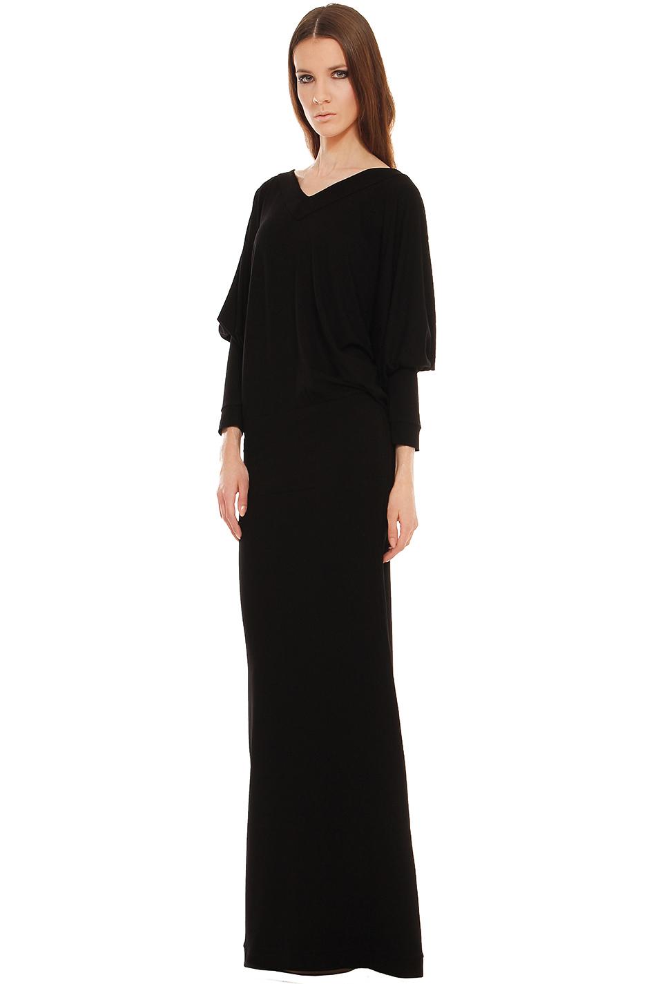 e39aebda79 Sukienka maxi z luźną górą czarna