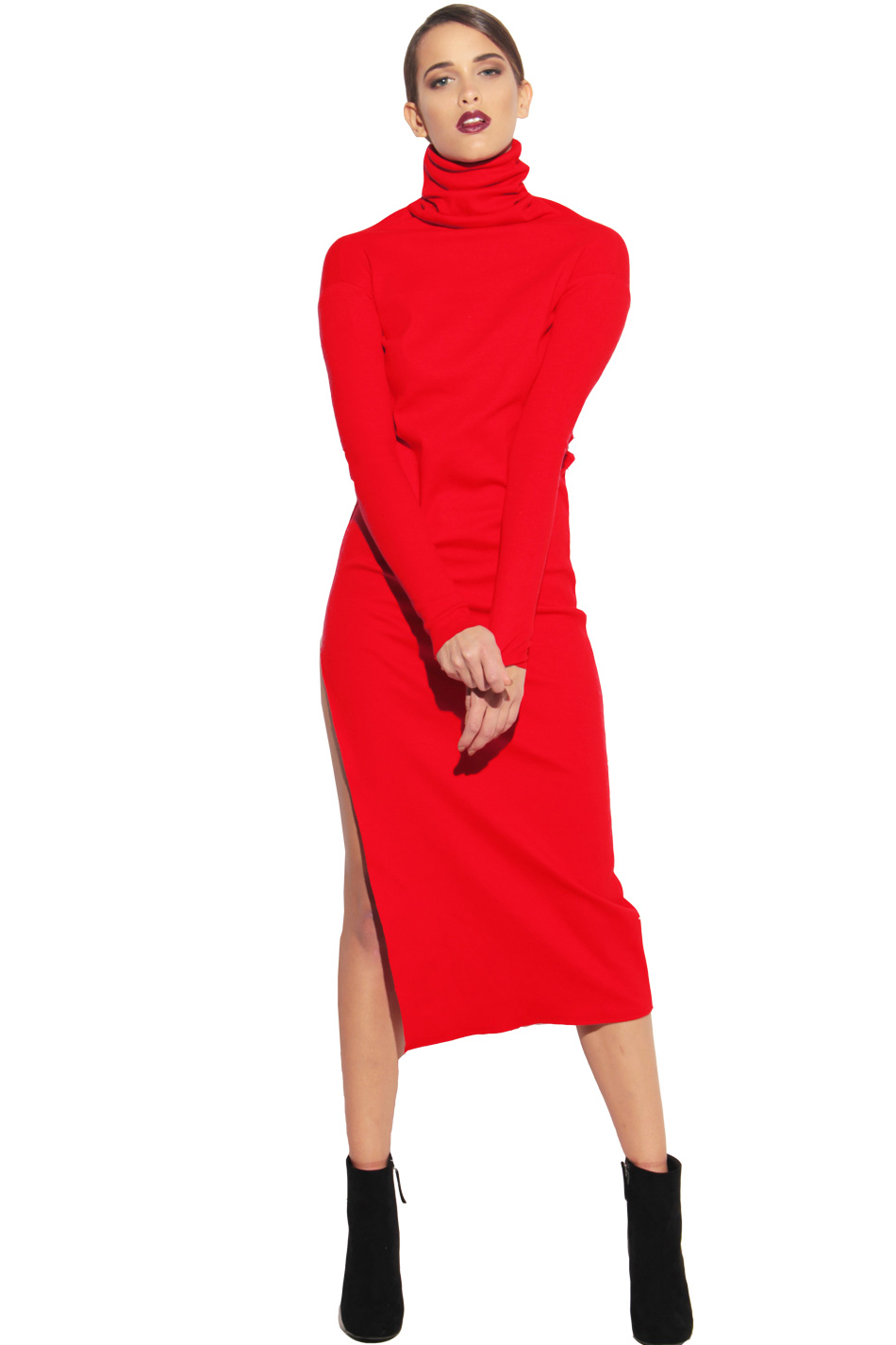 e6806ace05 Sukienka golf z rozporkiem
